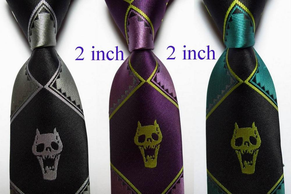 Men Sugar Skull Floral Classic Men Silk Tie Woven Jacquard Neck Ties