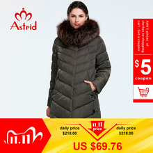 Astrid 2019 Winter new arrival down jacket women with a fur collar loose clothing outerwear quality women winter coat FR 2160