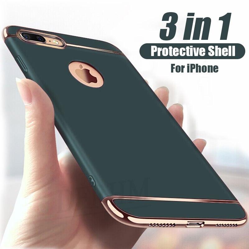 Luxury Full Cover Plating Phone Case For iPhone 11 Pro Max 6 6s 7 8 Plus 5 5s SE X XS Max XR PC Matte Hard Cover Case Capa