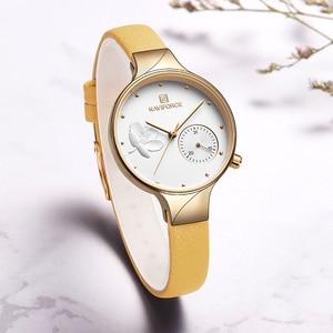 Image 4 - NAVIFORCE Women Watches Top Brand Luxury Fashion Female Quartz Wrist Watch Ladies Leather Waterproof Clock Girl Relogio Feminino