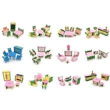 Dollhouse Miniature Decoration Wooden Bathroom 1:12 for Kids Action-Figure Restaurant