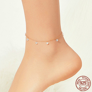 Женский браслет-цепочка bamoer, браслет из стерлингового серебра 925 пробы с кубическим цирконием розового золота, ювелирные изделия для праздн...