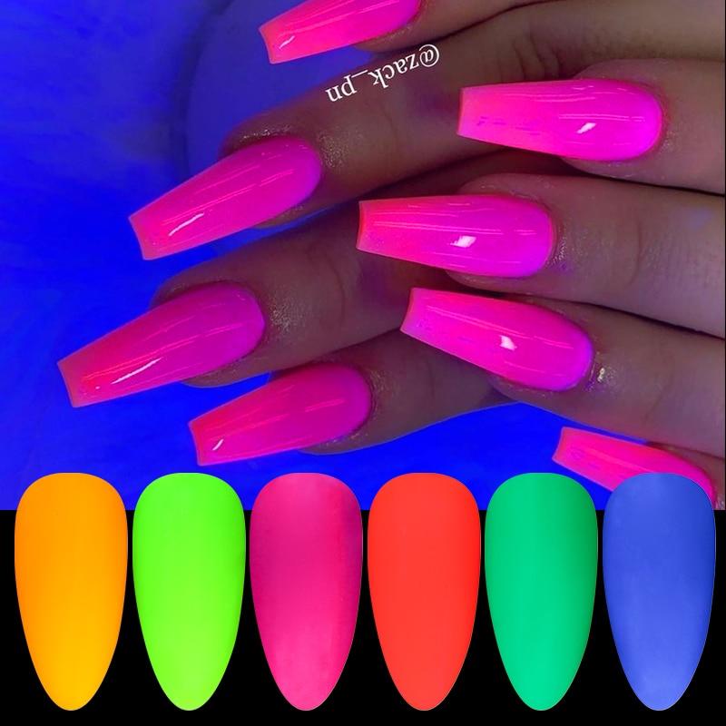 1 Box Neon Phosphor Powder Nail Glitter Powder Colorful Dust Luminous Pigment Fluorescent Powder Nail Glitters Glow In The Dark