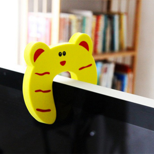 5Pcs/Lot Protection Baby Safety Cute Animal Security Door Stopper Baby Card Lock Newborn Care Child Finger Protector 4