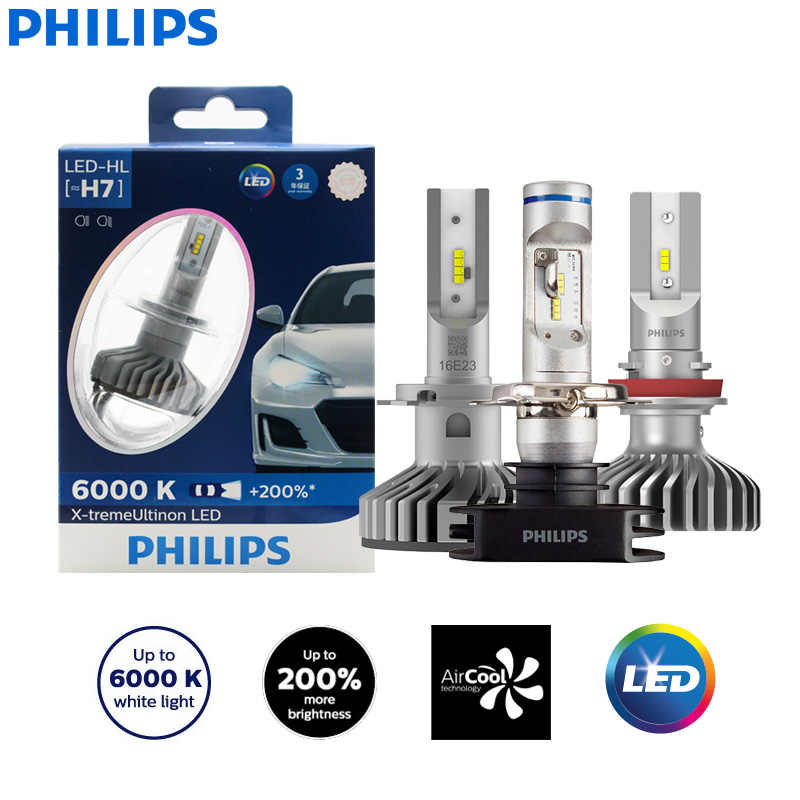 Philips X-Treme Ultinon Led H4 H7 H8 H11 H16 9005 9006 HB3 HB4 12V 6000K Auto led Head Light Auto Mistlampen + 200% Helderder (Twin)
