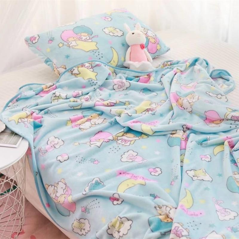 Cartoon Little Twin Star Soft Pillowcase Plush Toys Blanket Birthday Christmas Gift #2192