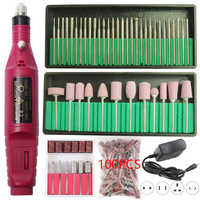 Professional Electric Nail Drill Machine Manicure Set Pedicure Gel Remover Kit Strong Nail Drill Tools Polishing Sanding Bands