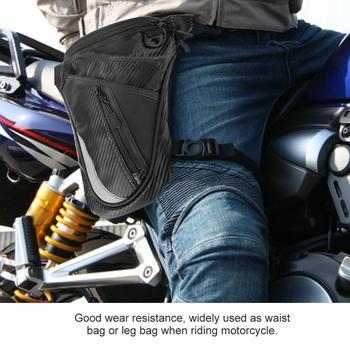 Bolsa de pierna para motocicleta, mochila para hombres, motocicleta de moda, bolsa para pierna, riñonera duradera para montar, caja para motocicleta con tira reflectante