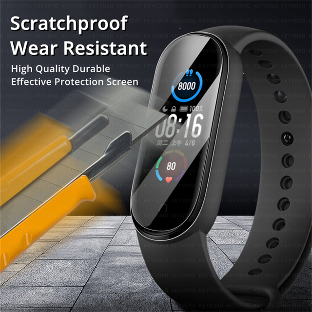 9D Protective Film Glass for Xiaomi Mi band 4 5 6 Full Cover for Mi band5 Smart Watchband Soft Screen Protector For Mi Band Case 3