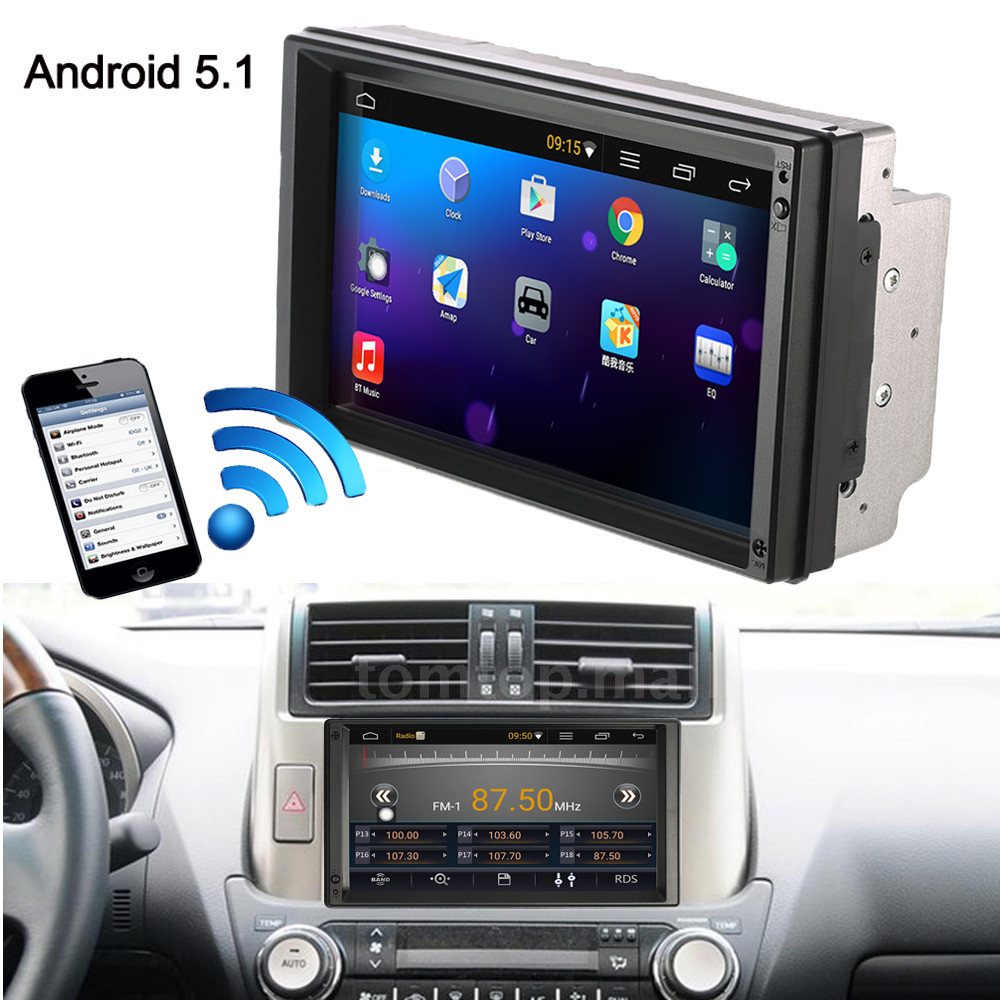 Heißer 2 Din Android 5,1 Auto-Radio-Player mit GPS <font><b>Navigation</b></font> 7 zoll HD Touchscreen Multimedia Auto Unterhaltung mit BT WIFI AM/<font><b>F</b></font> image