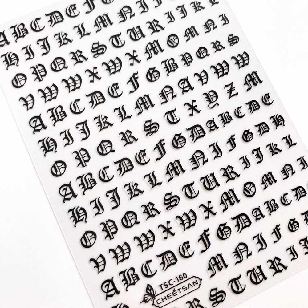 Новейшая серия TSC 159 буквенный дизайн 3d наклейки для ногтей Наклейка экспорт японский носорог DIY украшения для дизайна ногтей|stickers manicure|nail decals3d nail art stickers - AliExpress