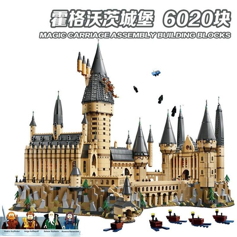 DHL 6020pcs Potter Film Castle Magic Compatibel Legoly 71043 Stad Jongen Bouwstenen Bricks Speelgoed Voor Kinderen Geschenken 16050