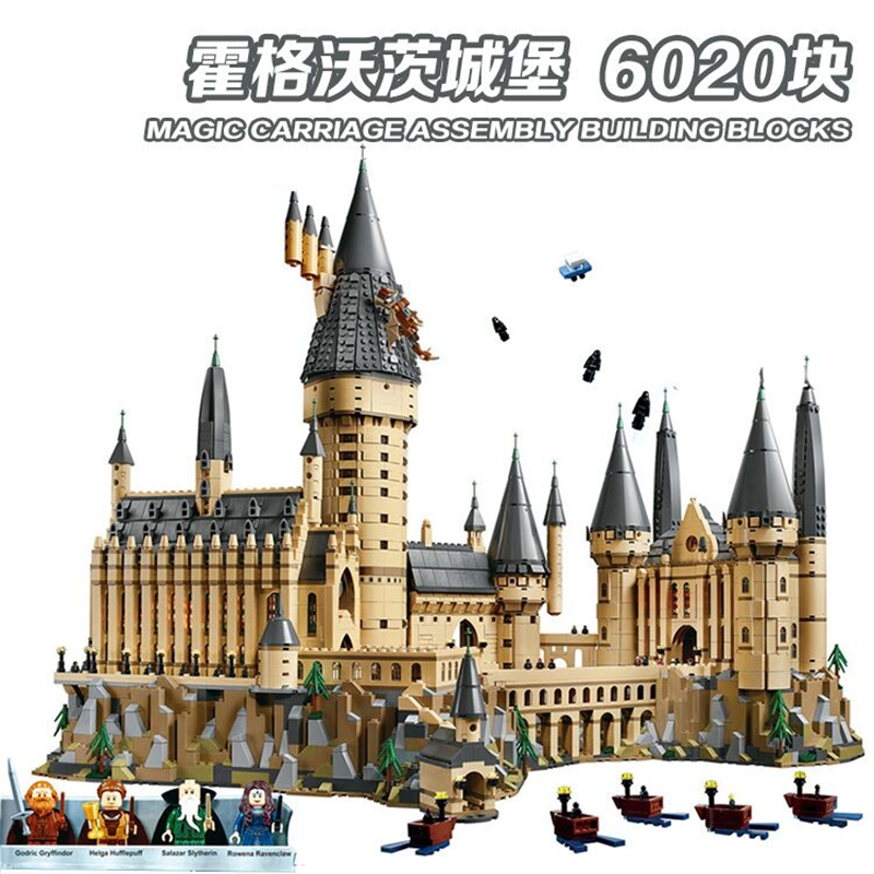 DHL 6020pcs Potter Movie Castle Magic Compatible Legoly 71043 City Boy Building Blocks Bricks Toys For Children Gifts 16050