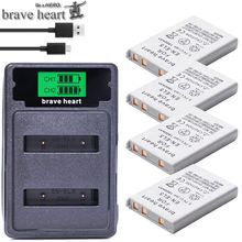 4pcs 1800mah EN-EL5 ENEL5 En El5 Battery + USB dual charger For Nikon Camera Coolpix P80 P90 P100 P500 P510 P520 camera