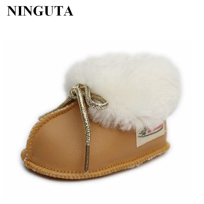 Теплая зимняя обувь для малышей; Унисекс; Обувь для маленьких мальчиков и девочек