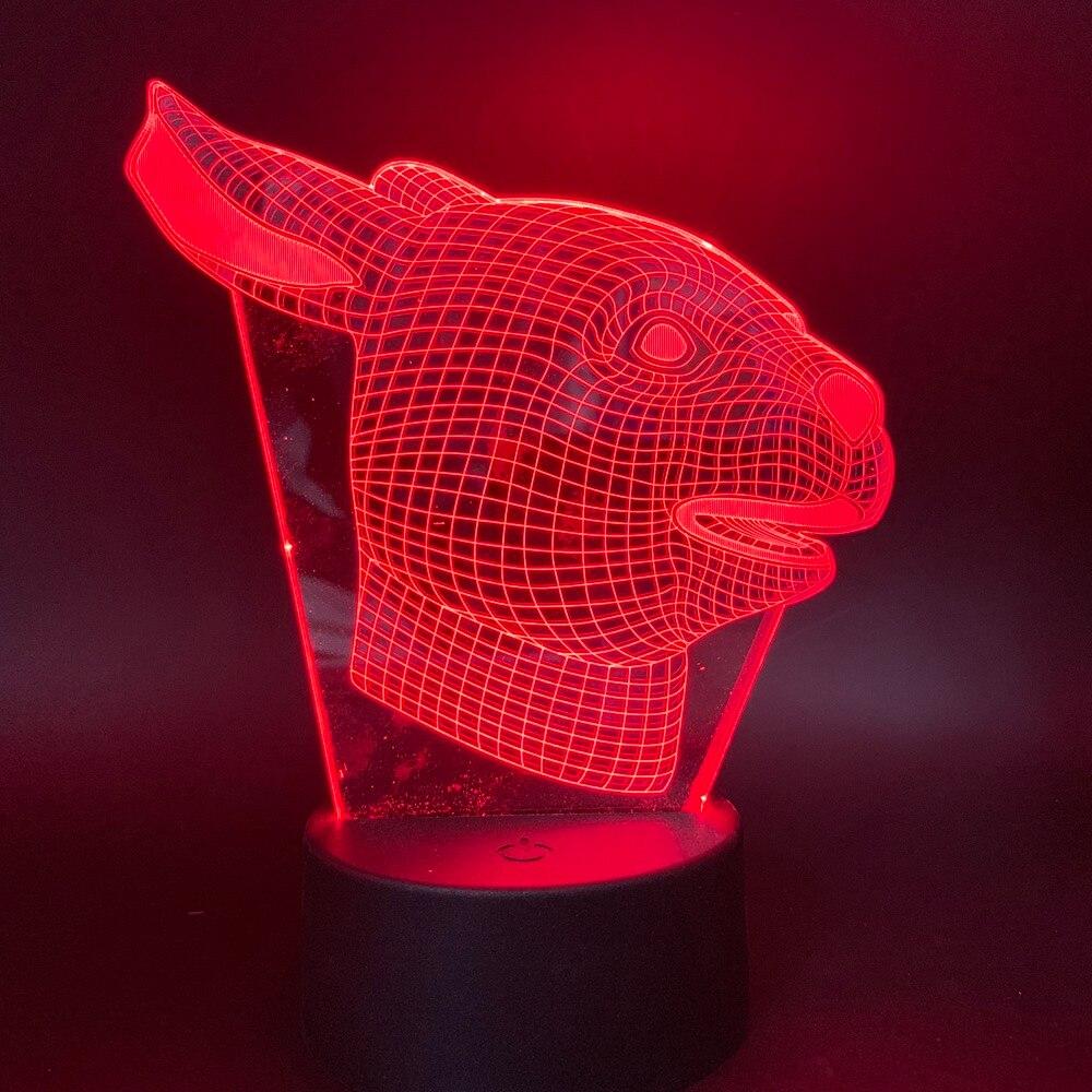 Led Night Light Rabbit Animal for Children Birthday Gift Kids Bedroom Lovely decoration 3D Lamp