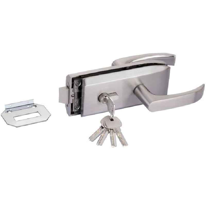 Glass Door Lock W Key Swing Door And Sliding Door Aluminum Frameless Glass Door Lock, High Partition Door Lock