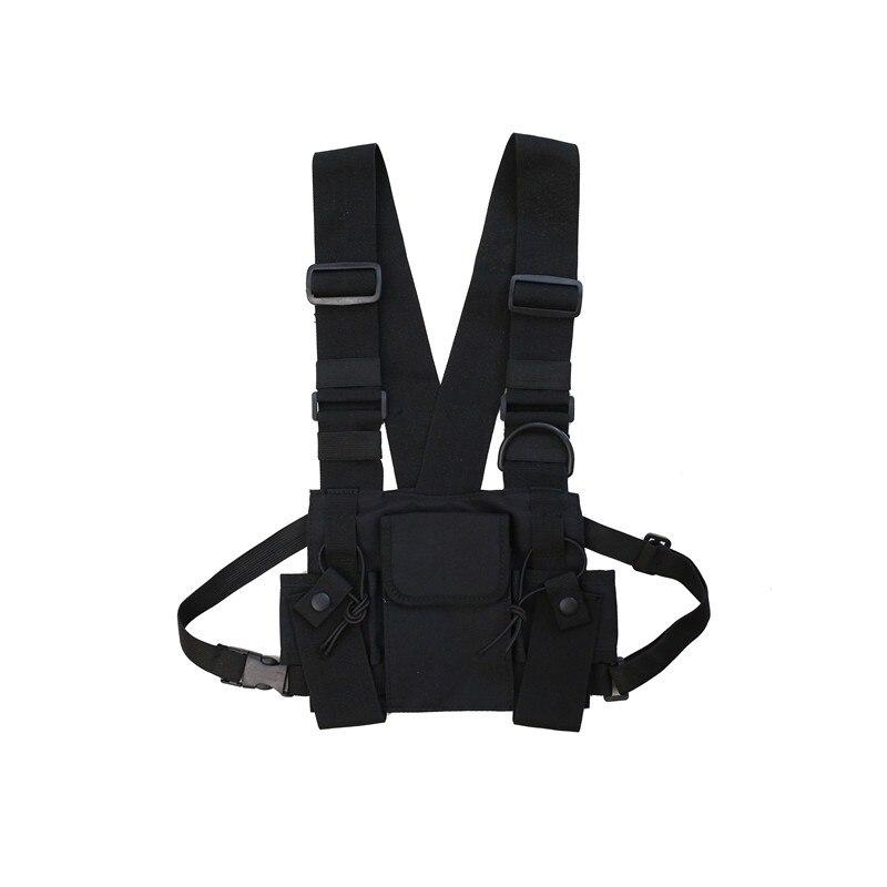 Нагрудная сумка в стиле хип-хоп, уличная, унисекс, крутая, функциональная, тактическая, на груди, сумка через пояс, нейлоновый рюкзак в стиле