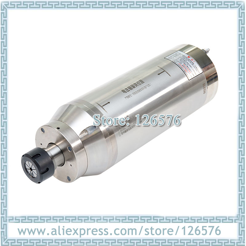 GDK125-18Z/6.5 constant torque spindle motor 4 bearing 18000rpm 6.5kw ER32 D125mm Water cooled spindle motor for stone, metal