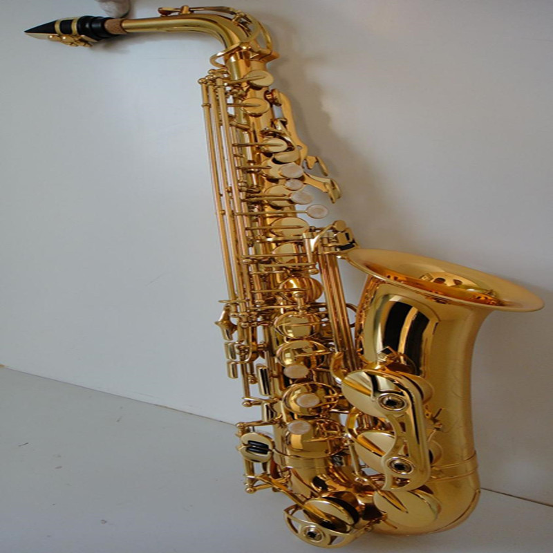 Golden Alto Eb Flat Saxophone With High Density Cork More Stable Saxophone