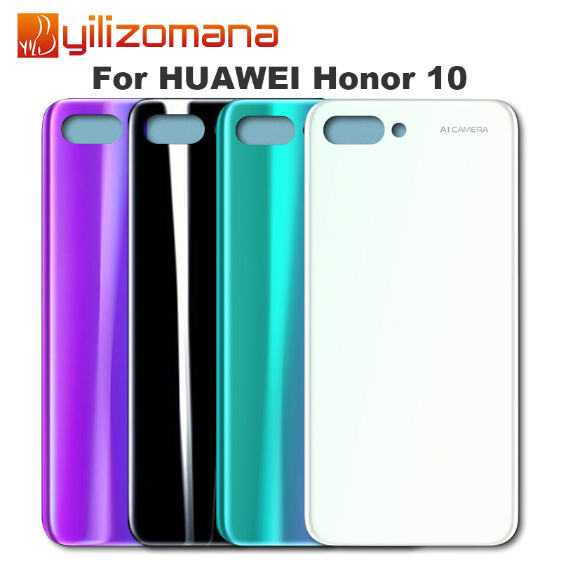 YILIZOMANA Battery Cover Back Glass Door Housing Case For Huawei Honor 10 Battery Cover Rear Panel Replacement image