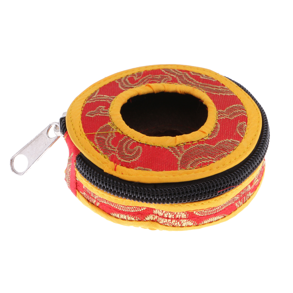 Buddhism Belly Dance Professional Finger Cymbals Storage Case Bag Cover Box