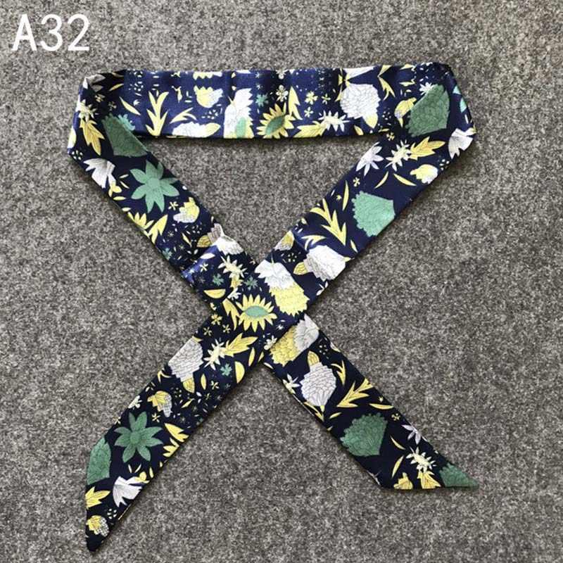 38 색상 새 실크 작은 여자 패션 스카프 헤어 가방 핸들 장식 넥타이 다기능 핸드 리본 스카프 4*100cm M30