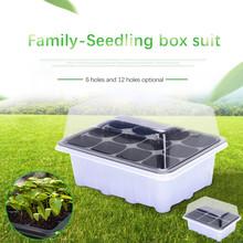 Nasiona roślin rośnie Box przedszkole kaseta do sadzonek ogród Yard taca 6 12 otwór ogród dla roślin nasiona kwiatów narzędzia ogrodnicze tanie tanio Z tworzywa sztucznego Planting Container Bag DIY Potato Grow Planter