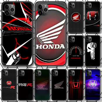 Honda Car Logo Phone case For iphone 4 4s 5 5S SE 5C 6 6S 7 8 plus X XS XR 11 12 mini Pro Max 2020 black cover luxury funda image