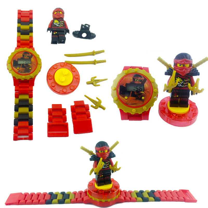 N0005 Children Watch Spiderman Batman Hulk Moana Princess Building Blocks Figures Children Watch Toys Kids Watch