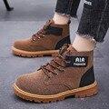 Mut-matt/Детские Ботинки martin; теплые кожаные ботинки для мальчиков и девочек; модные ботинки в британском стиле; нескользящие рабочие ботинки