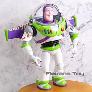 Image 2 - Buzz Lightyear parlante Woody Jessie Rex Bullseye, lámparas de juguete, voces que hablan inglés, figuras de acción móviles articuladas, regalo para niños