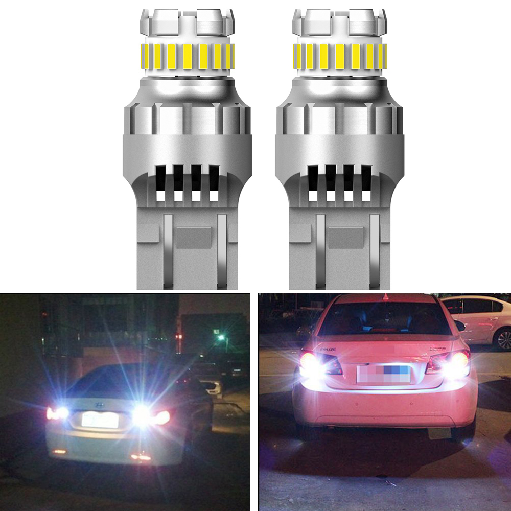 2pcs Canbus 7443 7444 T20 W21/5W LED Light For Lada Kalina Granta Vesta DRL LED Bulbs 12V 6500K White Super Bright 3030 4014 SMD image