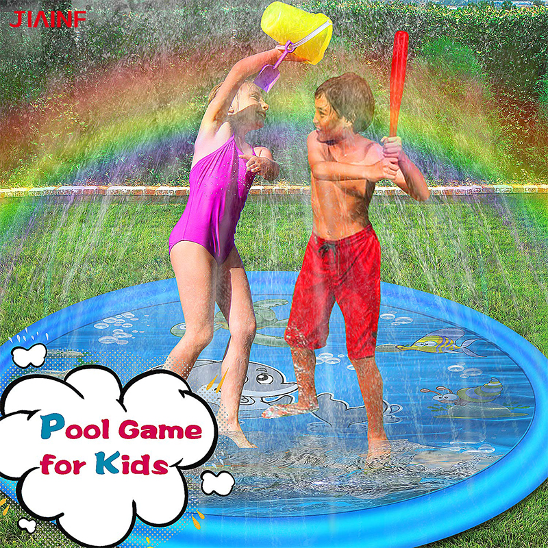 Baby Children Sprinkler Toy Outdoor Big Splash Pad Summer Garden Outdoor Party Inflatable Play Mat Newborn Beach Play Water Game