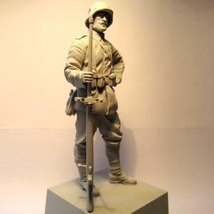 Image 2 - Figuras de resina 1:16 de 120MM, kit de soldados, máquina Gunner WW2 sin pintar y sin montar