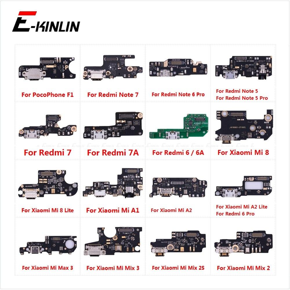 Charging Port Connector Board Parts Flex Cable For XiaoMi Redmi Note 7 6 5 Pro 6A 7A Mi 8 Mix 2S Max 3 2 A1 A2 Lite PocoPhone F1