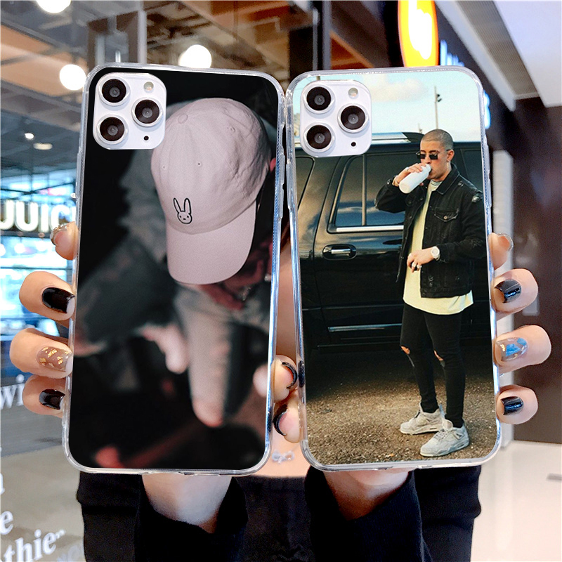 Coelho mau maluma ozuna pop hip hop rapper macio tpu transparente silicone caso de telefone capa para iphone x 10 5 5S se 6 6 s 7 8 plus