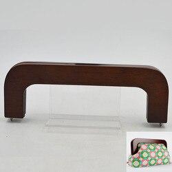 نمط جديد الأزياء حقيبة اكسسوارات خشبية محفظة إطار لطيفة بيع الخشب إطارات للحقيبة Oem ترحيب حقيبة مقبض