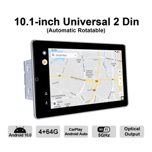 Image 5 - Android 10 Car Radio 2 din GPS Navigation IPS screen 4GB RAM+64GB ROM 1280*720 support 4G/wireless Carplay/ universal video play