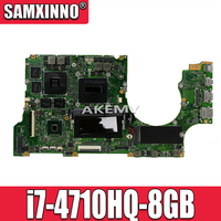 Para For Asus nx500j nx500jk nx500jka 90nb03n0-r00040 i7-4710HQ-8GB não-integrado gt850m placa principal do portátil testado