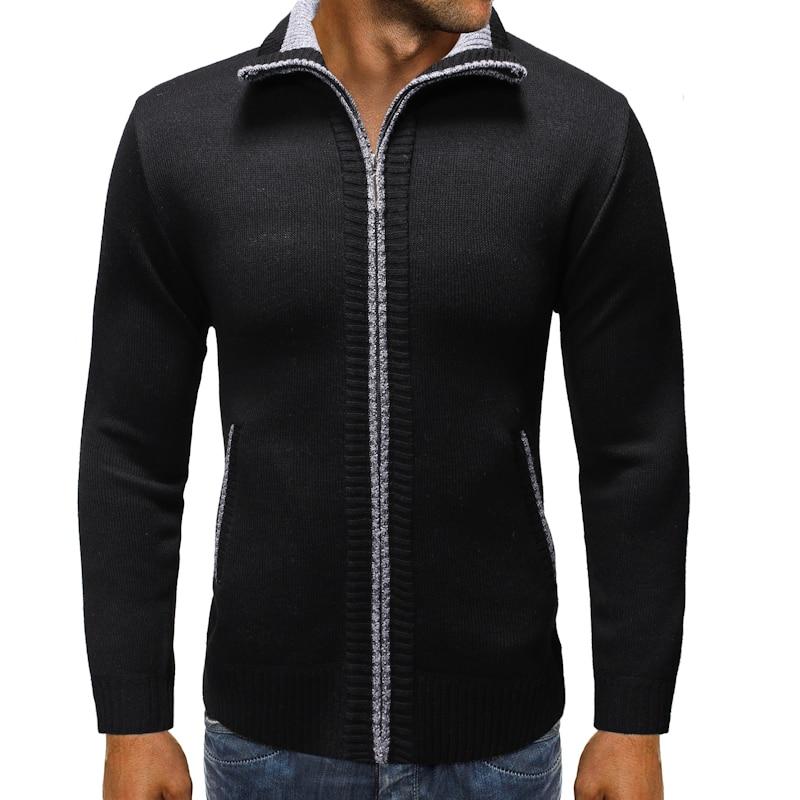 2020 new arrival autumn&winter high quality men's sweater coat ,Mandarin Collar thicked jacket plus-size M-XXXL 9812