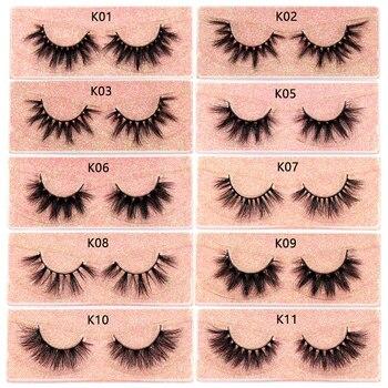 FOXESJI Makeup Eyelashes 3D Mink Lashes Fluffy Soft Wispy Volume Natural long Cross False Eyelashes Eye Lashes Reusable Eyelash 5