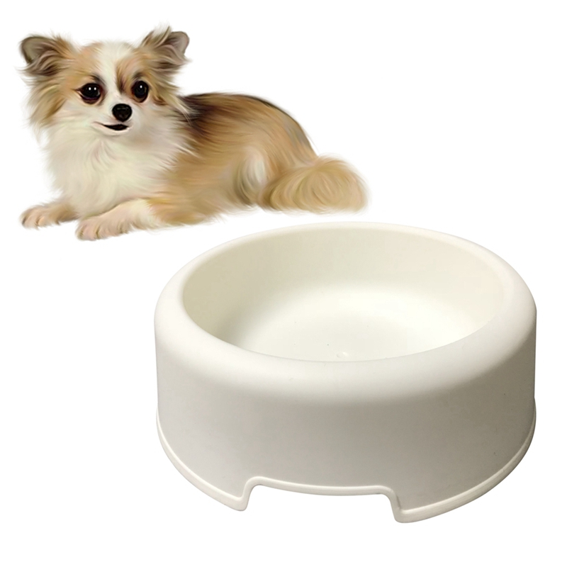 Pet Bowl Pet Feeder Pet Resin Round Bowl Basic Food Dish And Water Feeder For Dogs And Cats Easy To Clean