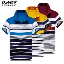 2021 Summer Men Embroidery Polo Shirt Business Casual Loose Big Size Stripe Polo Shirt Men Cotton Fashion Men Polo