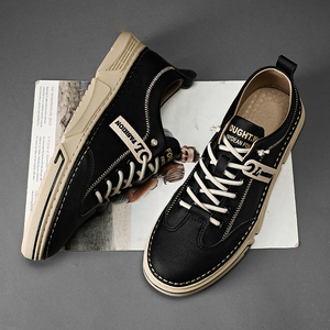 2020 Hot Men Original Leather Shoe Anti-Slippery Men Designer Sneakers Brand Boy Footwear Lace Up Sneakers For Mens Leather Shoe