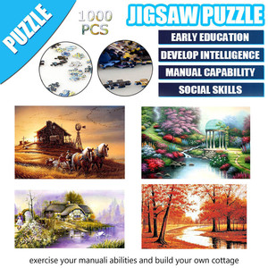 1000 Pieces Jigsaws Picture Puzzles Paper Assembling Games Educational for Adults Puzzle Toys Kids Children Educational Toys(China)