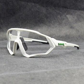 Photochromic ciclismo óculos de sol homem & mulher esporte ao ar livre óculos de bicicleta óculos de sol óculos de sol gafas ciclismo 1 lente 18