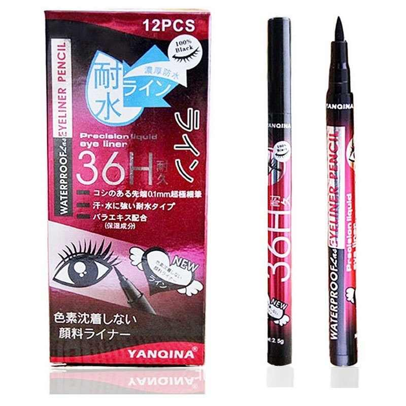 SuperDeals Black Eyeliner Waterproof Liquid Make Up Beauty Comestics Eye Liner Pencil Pen HI(N)