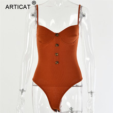 Knitted Spaghetti Strap Sexy Bodysuit
