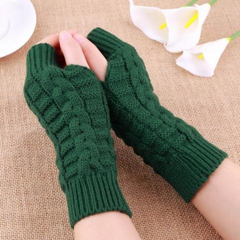 Autumn Winter Women Warmth Knitted Arm Fingerless Gloves Long Stretchy Mittens Men Women Winter Hand Arm Warm Female Gloves Multan